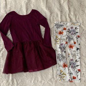Tulle dress and leggings set